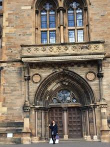In front of the University of Glasgow (picture courtesy of Mark Huggins)