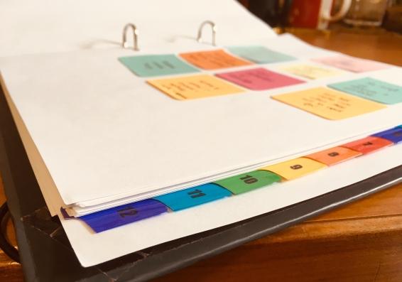 Folder organisation