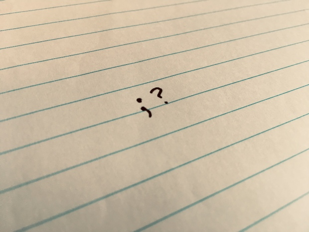 Page with question mark written on it