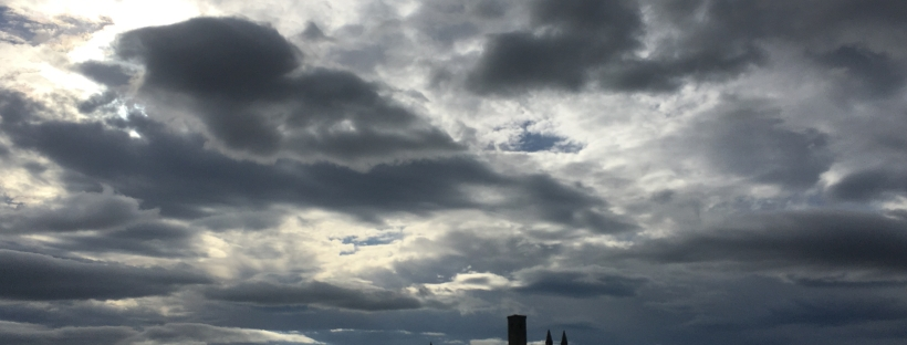 Cloudy sky in Scotland