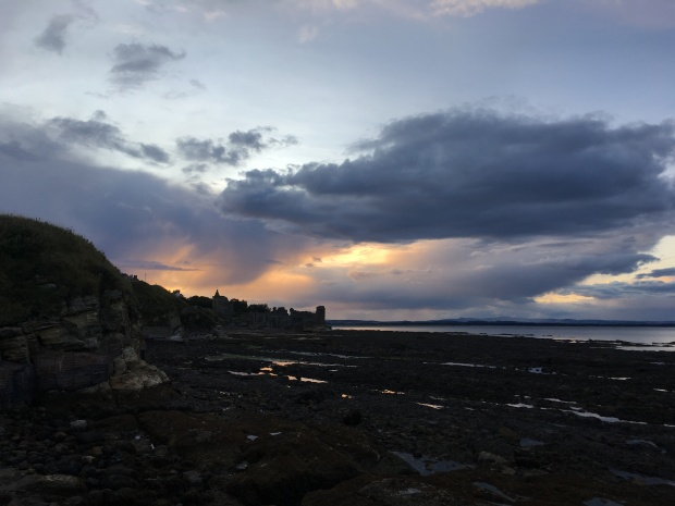 Sunset over St Andrews Castle